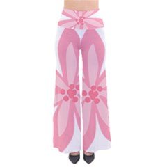 Pink Lily Flower Floral Pants by Alisyart