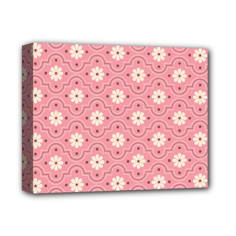 Pink Flower Floral Deluxe Canvas 14  X 11  by Alisyart