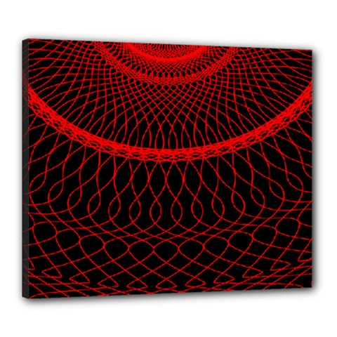 Red Spiral Featured Canvas 24  X 20  by Alisyart