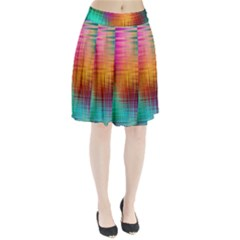Colourful Weave Background Pleated Skirt by Simbadda