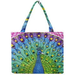 Peacock Bird Animation Mini Tote Bag by Simbadda