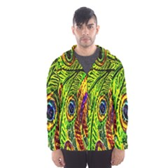 Peacock Feathers Hooded Wind Breaker (men) by Simbadda
