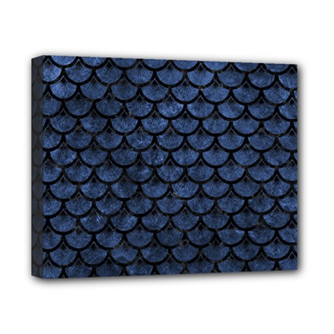 Scales3 Black Marble & Blue Stone (r) Canvas 10  X 8  (stretched) by trendistuff