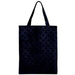 Scales2 Black Marble & Blue Stone Zipper Classic Tote Bag by trendistuff