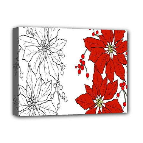 Poinsettia Flower Coloring Page Deluxe Canvas 16  X 12   by Simbadda