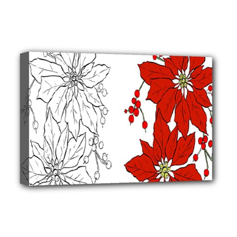 Poinsettia Flower Coloring Page Deluxe Canvas 18  X 12   by Simbadda