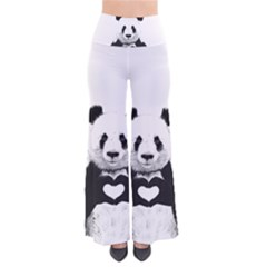 Panda Love Heart Pants by Onesevenart