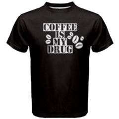Black Coffee Is My Drug Men s Cotton Tee by FunnySaying