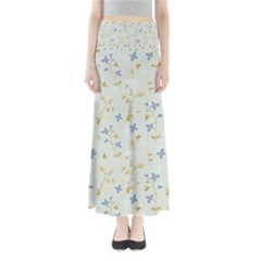 Vintage Hand Drawn Floral Background Maxi Skirts by TastefulDesigns