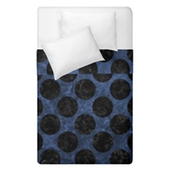 Circles2 Black Marble & Blue Stone (r) Duvet Cover Double Side (single Size) by trendistuff