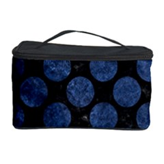 Circles2 Black Marble & Blue Stone Cosmetic Storage Case by trendistuff