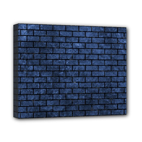 Brick1 Black Marble & Blue Stone (r) Canvas 10  X 8  (stretched) by trendistuff