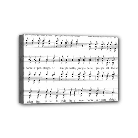 Jingle Bells Song Christmas Carol Mini Canvas 6  X 4  by Simbadda
