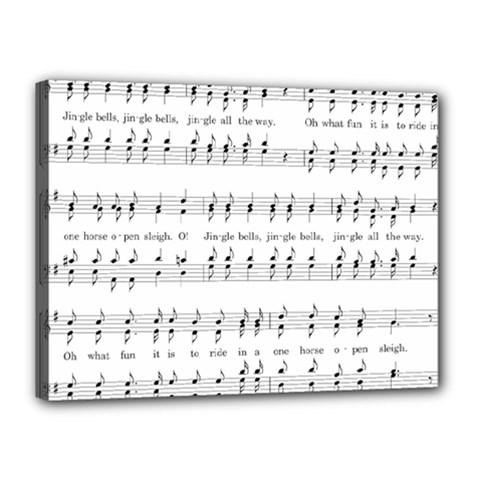 Jingle Bells Song Christmas Carol Canvas 16  X 12  by Simbadda