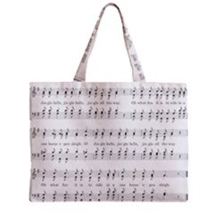 Jingle Bells Song Christmas Carol Zipper Mini Tote Bag by Simbadda