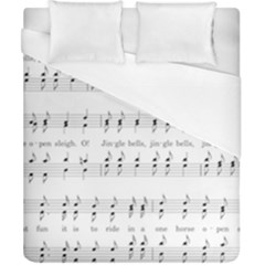 Jingle Bells Song Christmas Carol Duvet Cover (california King Size) by Simbadda