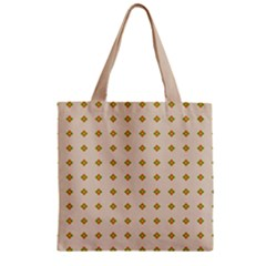 Pattern Background Retro Zipper Grocery Tote Bag by Simbadda