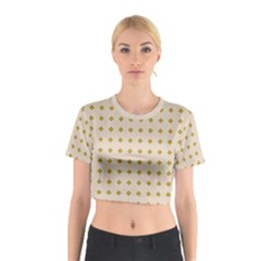 Pattern Background Retro Cotton Crop Top by Simbadda