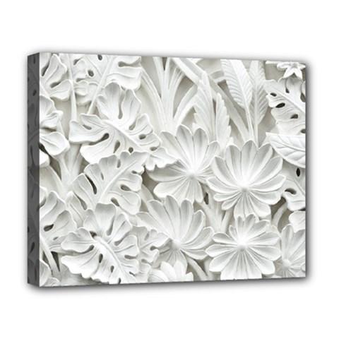 Pattern Motif Decor Deluxe Canvas 20  X 16   by Simbadda