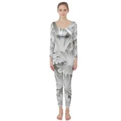 Pattern Motif Decor Long Sleeve Catsuit by Simbadda