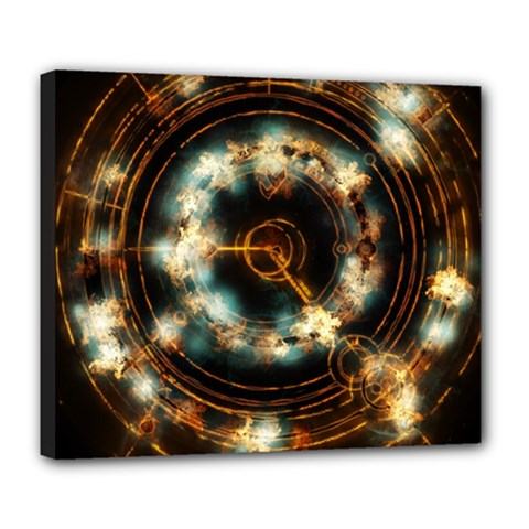 Science Fiction Energy Background Deluxe Canvas 24  X 20   by Simbadda