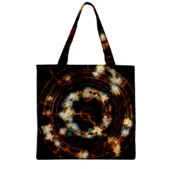 Science Fiction Energy Background Zipper Grocery Tote Bag by Simbadda