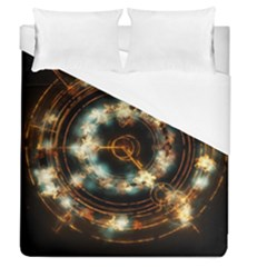 Science Fiction Energy Background Duvet Cover (queen Size) by Simbadda