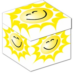 The Sun A Smile The Rays Yellow Storage Stool 12   by Simbadda