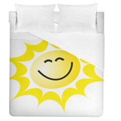 The Sun A Smile The Rays Yellow Duvet Cover (queen Size) by Simbadda