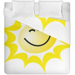 The Sun A Smile The Rays Yellow Duvet Cover Double Side (king Size)