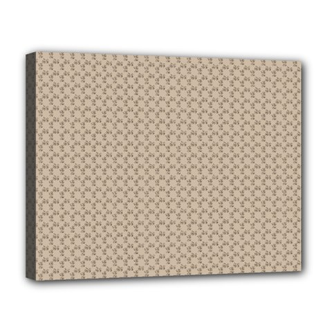 Pattern Ornament Brown Background Canvas 14  X 11  by Simbadda