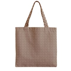 Pattern Ornament Brown Background Zipper Grocery Tote Bag by Simbadda