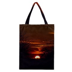 Sunset Sun Fireball Setting Sun Classic Tote Bag by Simbadda