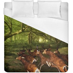 Red Deer Deer Roe Deer Antler Duvet Cover (king Size) by Simbadda