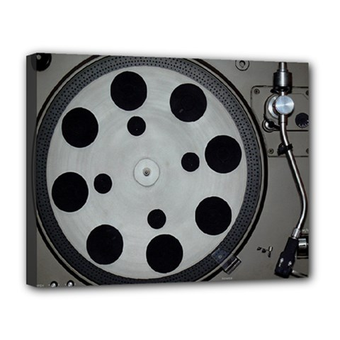 Turntable Record System Tones Canvas 14  X 11  by Simbadda