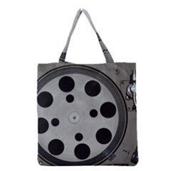 Turntable Record System Tones Grocery Tote Bag by Simbadda