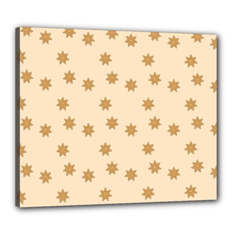 Pattern Gingerbread Star Canvas 24  X 20  by Simbadda