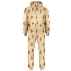 Pattern Gingerbread Star Hooded Jumpsuit (men)  by Simbadda