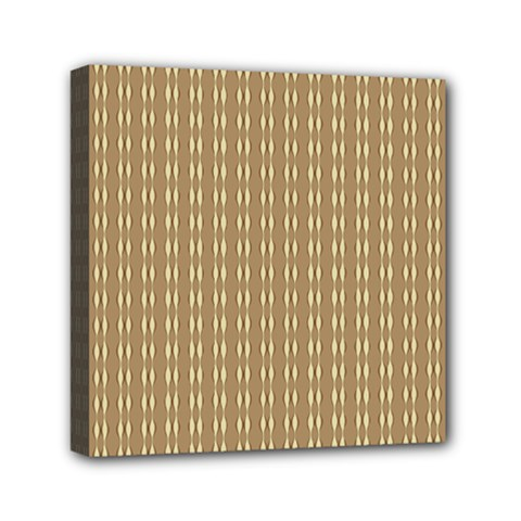 Pattern Background Brown Lines Mini Canvas 6  X 6  by Simbadda