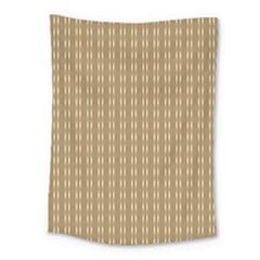 Pattern Background Brown Lines Medium Tapestry by Simbadda