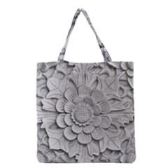 Pattern Motif Decor Grocery Tote Bag by Simbadda