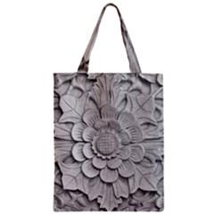 Pattern Motif Decor Zipper Classic Tote Bag by Simbadda