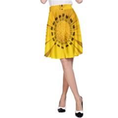 Transparent Flower Summer Yellow A Line Skirt by Simbadda