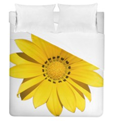 Transparent Flower Summer Yellow Duvet Cover (queen Size) by Simbadda
