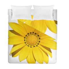 Transparent Flower Summer Yellow Duvet Cover Double Side (full/ Double Size) by Simbadda
