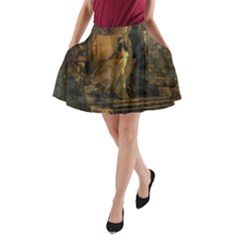 Woman Lost Model Alone A Line Pocket Skirt by Simbadda