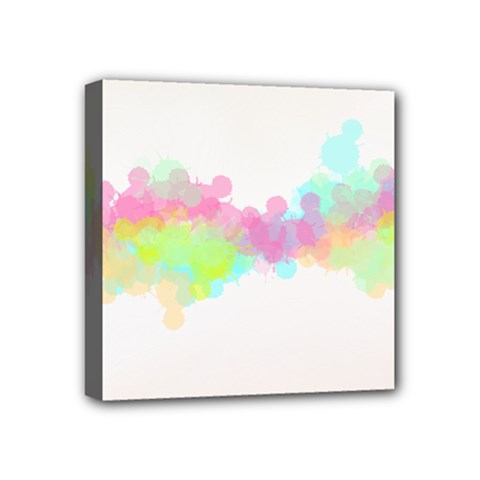 Abstract Color Pattern Colorful Mini Canvas 4  X 4  by Onesevenart