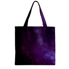 Abstract Purple Pattern Background Zipper Grocery Tote Bag by Onesevenart