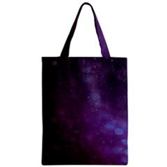 Abstract Purple Pattern Background Zipper Classic Tote Bag by Onesevenart