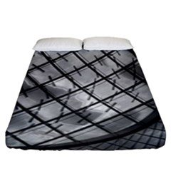 Architecture Roof Structure Modern Fitted Sheet (king Size) by Onesevenart